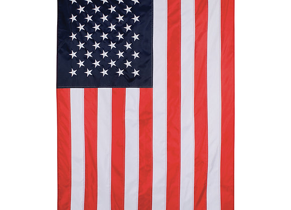 Traditional American Flag Grommeted Embroidered Flag 36x60