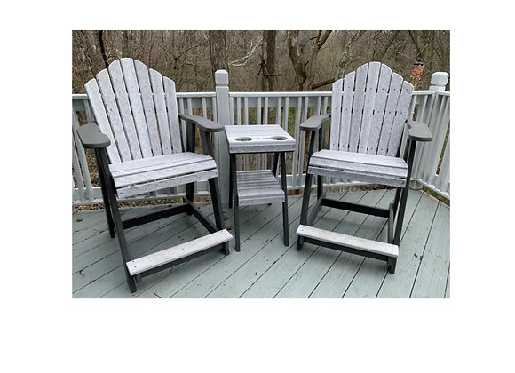 Counter Height Outdoor Chair with Arms