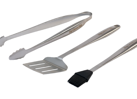 BGE 3pc Stainless Steel BBQ Tool Set