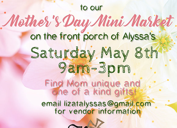 Mother's Day Market Fee
