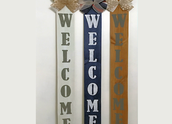 "Rustic ""Welcome"" Sign by Vendor 133"