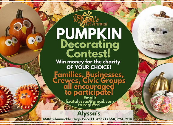 Pumpkin Decorating Contest Registration