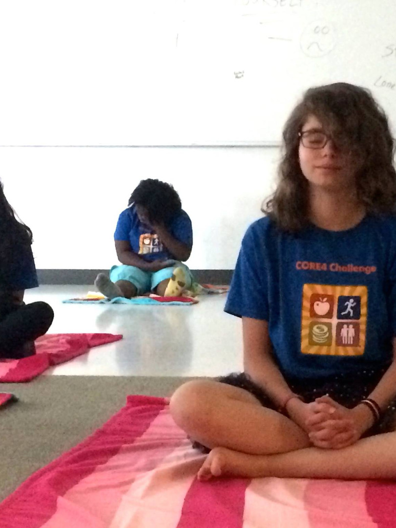Susan Ginsberg of Stop and Breathe® provides workshops to students of all ages teaching healthy breathing, relaxation and visualization techniques.