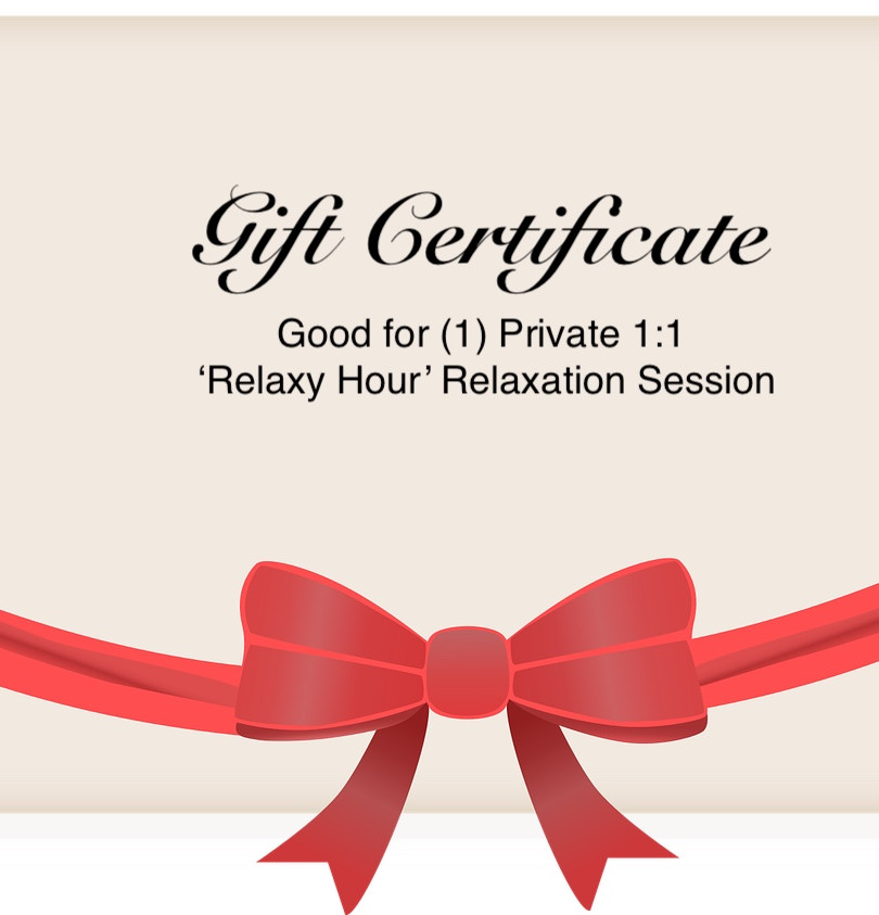 Gift Certificates Available- Send someone you care about the gift of stress reduction techniques and relaxation.