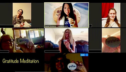 Gratitude Meditation led by Susan Ginsberg, Stop and Breathe via Zoom