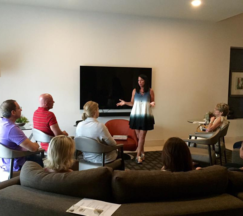 Susan Ginsberg of Stop and Breathe providing a Zenful Aging workshop