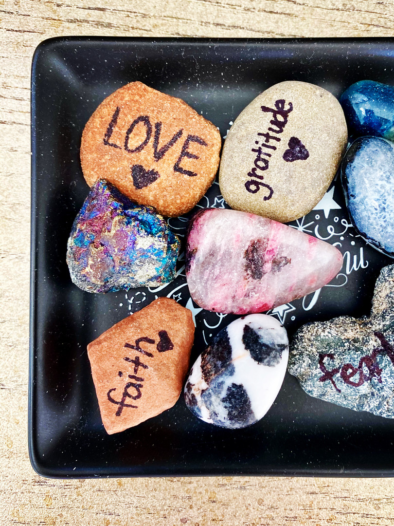 My inspirational rocks collection