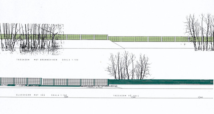 Noise protection and landscape design