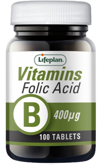 Lifeplan Folic Acid 400mcg X 100 Tablets