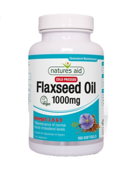 Natures Aid Flaxseed Oil 1000mg 180Softgels