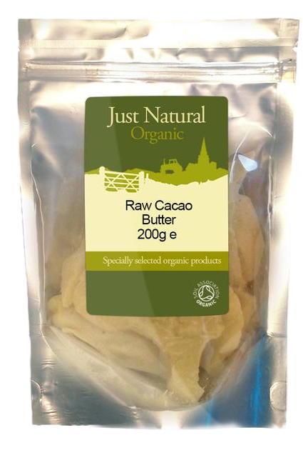 Just Natural Organic Raw Cacao Butter 200g