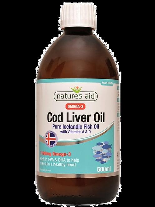 Natures Aid Cod Liver Oil Liquid