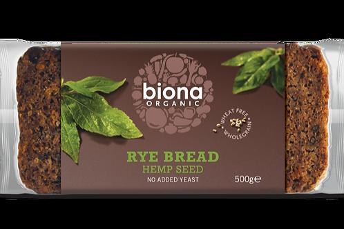 BIONA ORGANIC Rye Bread – Hemp Seed