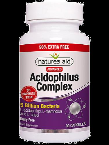 Natures Aid Acidophilus Complex - 50% Extra FREE - 120+60 Vegicaps