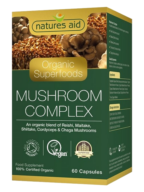 Natures Aid Organic Mushroom Complex 60
