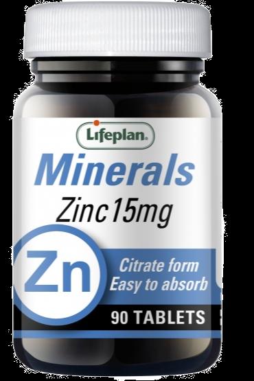 Lifeplan Zinc Citrate 15mg X 90 Tablets