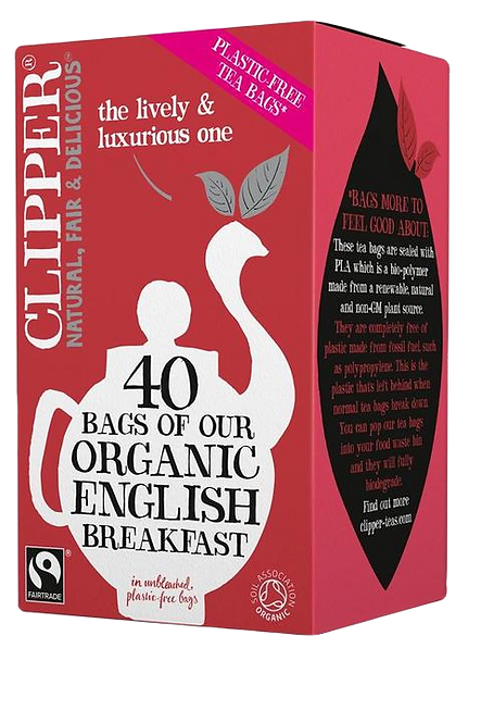 CLIPPER Organic & fairtrade english breakfast 40 tea bags