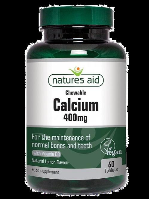 Natures Aid Chewable Calcium 400mg