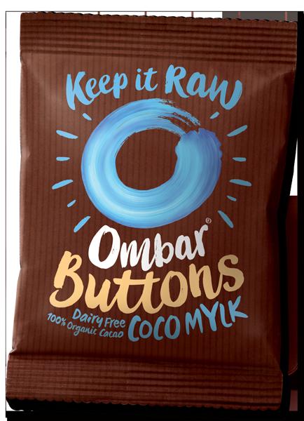 OMBAR BUTTONS Coco Mylk Vegan Chocolate 25g