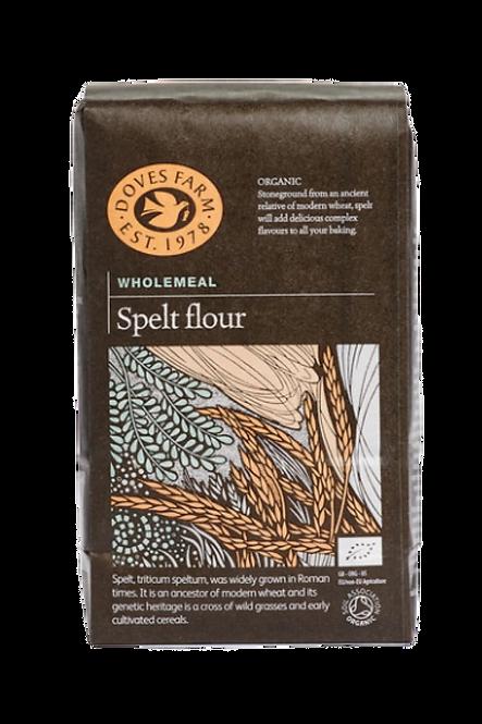 Doves Farm Organic Stoneground Wholemeal Spelt Flour 1kg