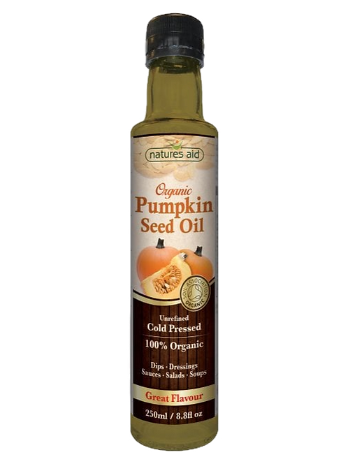 Natures Aid Organic Pumpkin Seed Oil 250ML