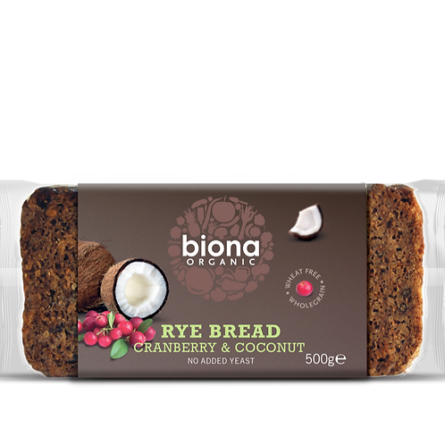 BIONA ORGANIC Rye Bread – Cranberry & Coconut