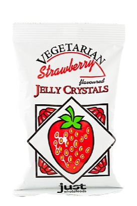 Just Wholefoods Real Strawberry Jelly Crystals (85g)