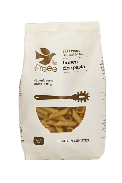 Freee by Doves Farm Gluten Free Organic Brown Rice Penne 500g