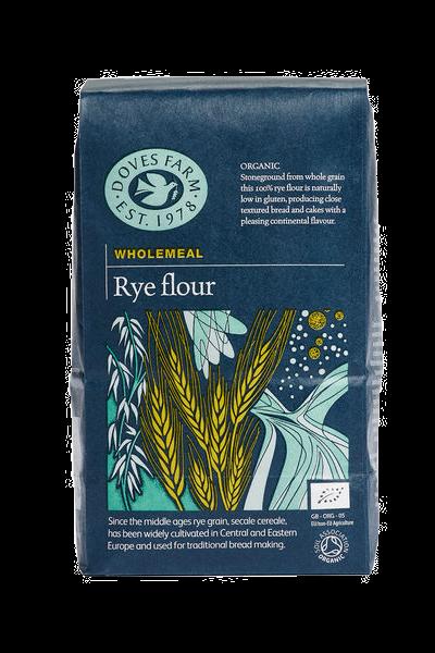 Doves Farm Organic Stoneground Wholemeal Rye Flour 1kg