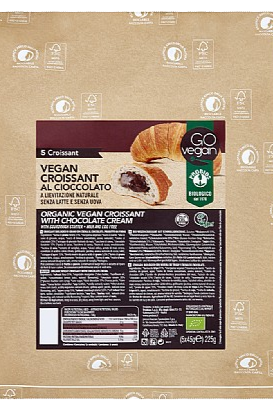 GoVegan Ready To Eat Croissants With Chocolate (5x45g)