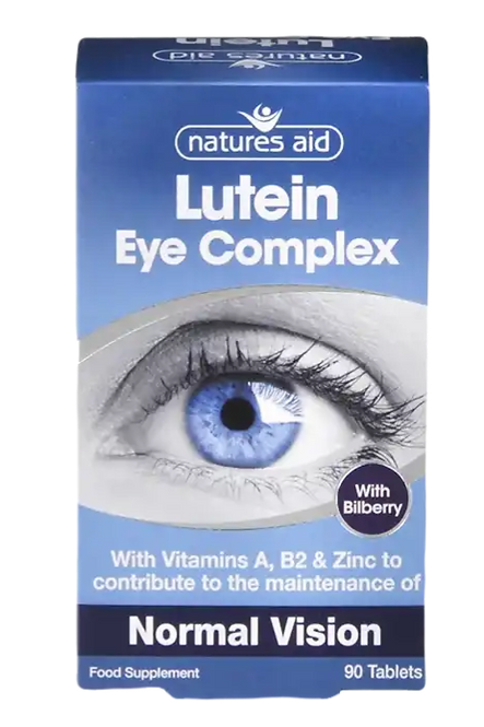 Natures Aid Lutein Eye Complex 90 Tablets