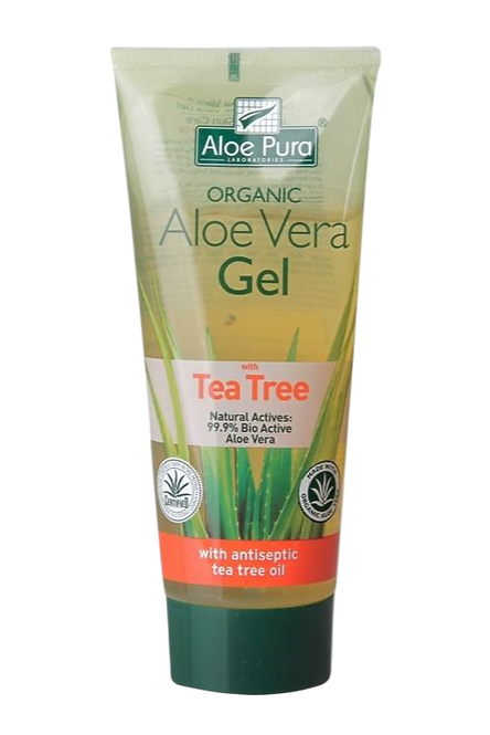 Aloe Pura Optima Organic Aloe Vera Gel With Tea Tree 200ml