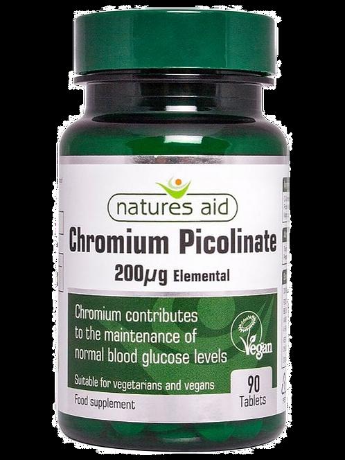 Natures Aid Chromium Picolinate 200ug