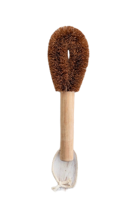Coconut Dish Washing Brush With Wooden Handle
