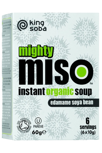 King Soba Gluten Free Edamame Miso and Seeds Soup 6 packets 60g