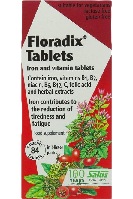 FLORADIX Iron and Vitamin Tablets 84 Capsules