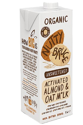 Nutty Bruce Activated Unsweetened Almond And Oat M*Lk (1L)