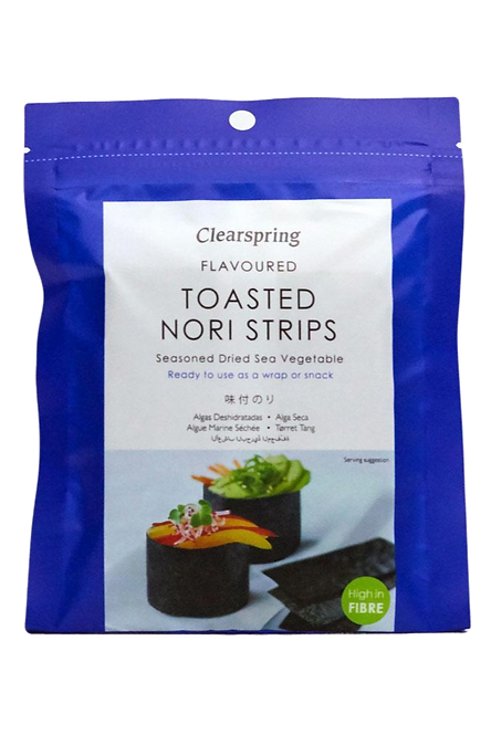 Japanese Flavoured Toasted Nori Strips - Dried Sea Vegetable
