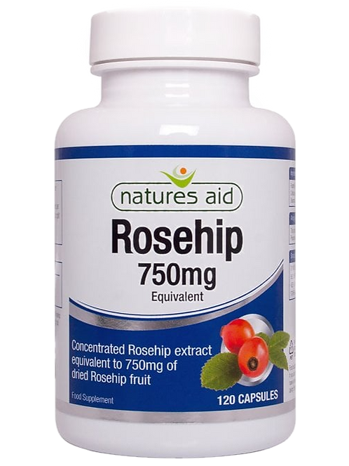 Natures Aid Rosehip 750mg 120Cap