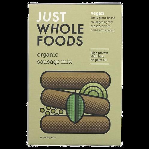 Just Wholefoods Vegetarian Banger Mix Organic 125g