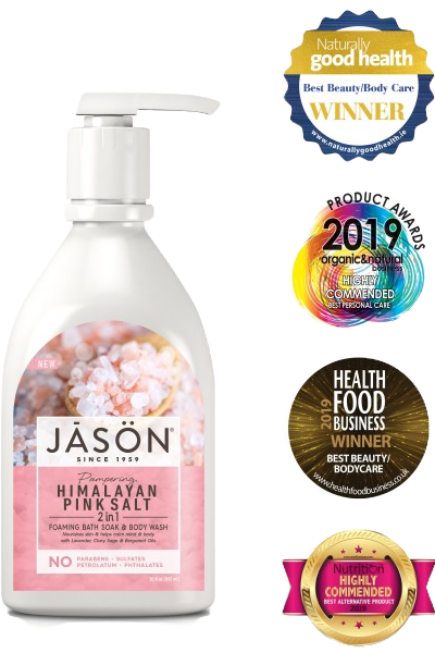 JASON Himalayan Pink Salt 2-In-1 Foaming Bath Soak & Body Wash 887ml