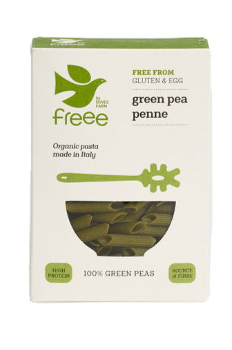 Freee by Doves Farm Gluten Free Organic Green Pea Penne 250g