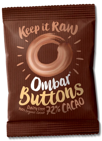 OMBAR BUTTONS 72% Cacao 25g