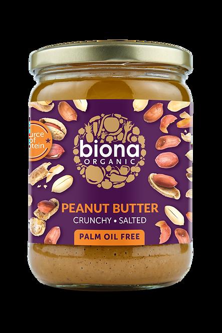 BIONA ORGANIC Peanut Butter Crunchy – With Salt