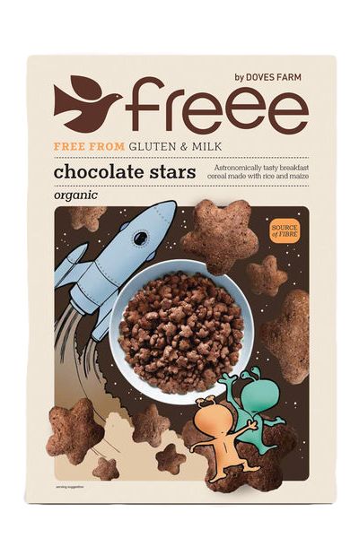 Freee by Doves Farm Gluten Free Organic Chocolate Stars 300g