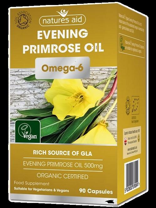 Natures Aid Organic Evening Primrose Oil 90 Capsules
