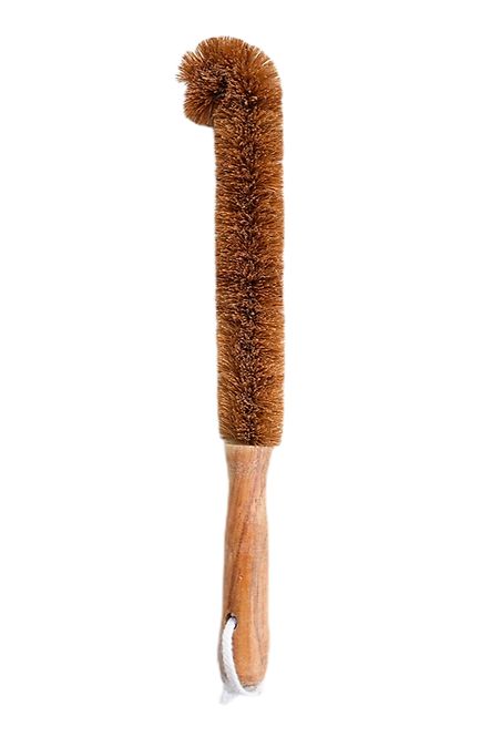 Coconut Bottle Brush With Wooden Handle
