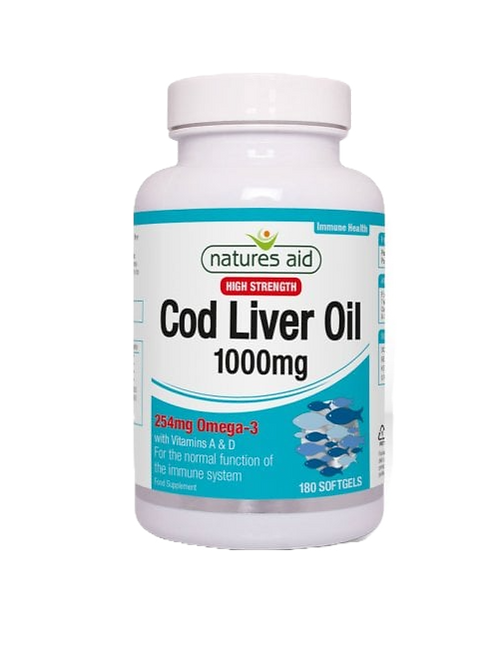 Natures Aid Cod Liver Oil 1000mg 180softgels