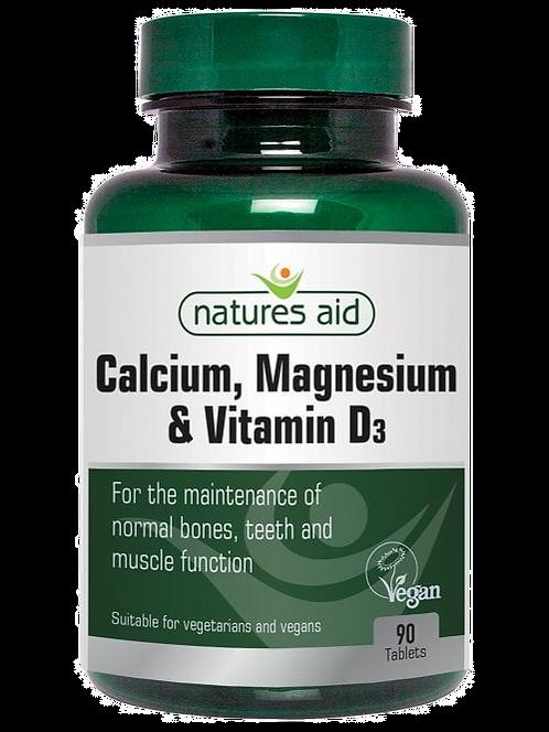 Natures Aid Calcium, Magnesium + Vitamin D3