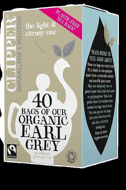 CLIPPER Organic & fair trade earl grey 40 tea bags